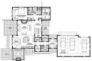 Farmhouse Style House Plan - 4 Beds 4 Baths 3409 Sq/Ft Plan #928-328 Floor Plan - Main Floor Plan