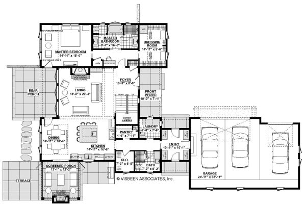 Farmhouse Floor Plan - Main Floor Plan Plan #928-328