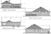 Bungalow Style House Plan - 3 Beds 2 Baths 1293 Sq/Ft Plan #47-377