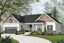 Home Plan - Traditional Exterior - Front Elevation Plan #23-2534