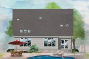 Cottage Style House Plan - 3 Beds 2 Baths 1661 Sq/Ft Plan #929-1083 Exterior - Rear Elevation