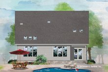 House Plan Design - Cottage Exterior - Rear Elevation Plan #929-1083