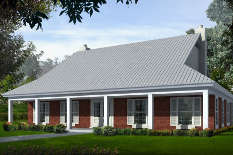 Farmhouse Style House Plan - 3 Beds 2.5 Baths 2500 Sq/Ft Plan #81-13712 Exterior - Front Elevation