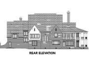 European Style House Plan - 4 Beds 5.5 Baths 5745 Sq/Ft Plan #119-168 Exterior - Rear Elevation