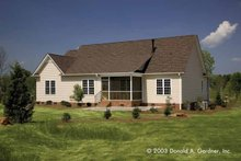 Dream House Plan - Traditional Exterior - Rear Elevation Plan #929-58