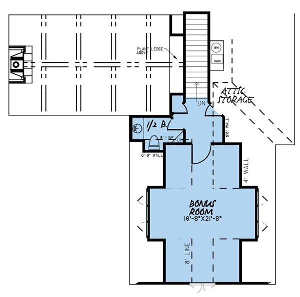 Country Floor Plan - Upper Floor Plan Plan #923-131