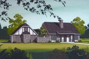European Style House Plan - 3 Beds 2 Baths 1600 Sq/Ft Plan #45-319 Exterior - Front Elevation