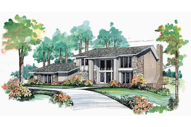 House Blueprint - Contemporary Exterior - Front Elevation Plan #72-454