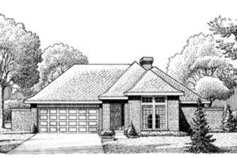 Traditional Exterior - Front Elevation Plan #410-252 - Houseplans.com