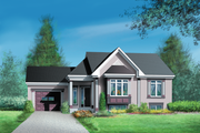 Traditional Style House Plan - 3 Beds 1 Baths 1239 Sq/Ft Plan #25-169 Exterior - Front Elevation