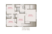 Craftsman Style House Plan - 3 Beds 2.5 Baths 2175 Sq/Ft Plan #461-68 Floor Plan - Upper Floor Plan