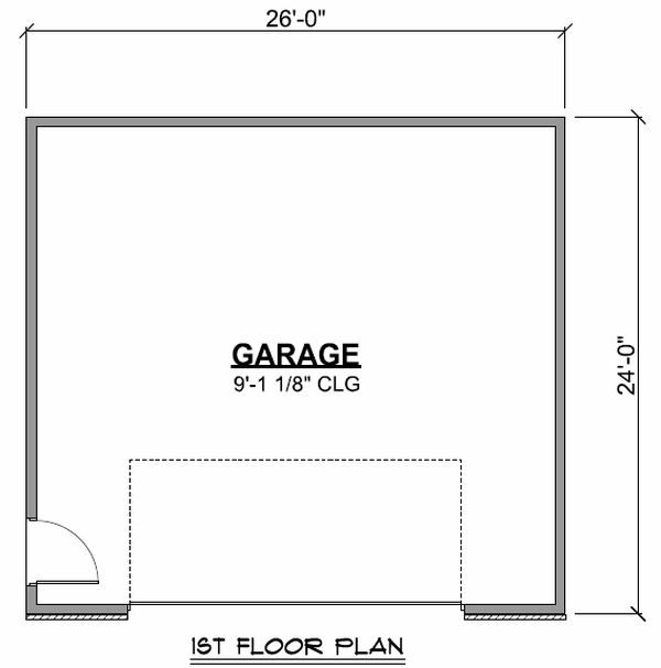 Craftsman Floor Plan - Main Floor Plan Plan #1064-63
