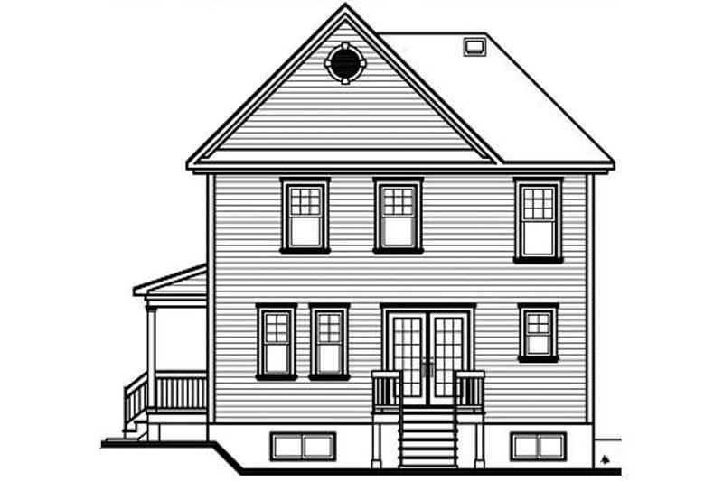 Country Exterior - Rear Elevation Plan #23-475 - Houseplans.com