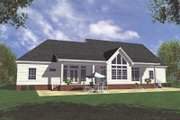 Country Style House Plan - 3 Beds 3 Baths 2100 Sq/Ft Plan #21-111 Exterior - Rear Elevation