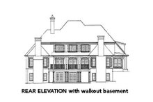European Exterior - Rear Elevation Plan #429-39