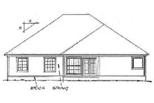 Home Plan Design - Traditional Exterior - Rear Elevation Plan #20-113