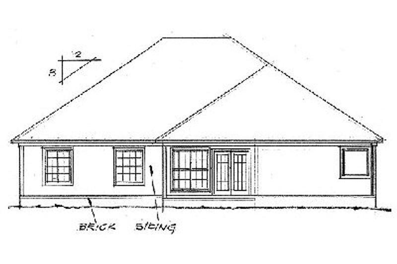 Traditional Exterior - Rear Elevation Plan #20-113 - Houseplans.com