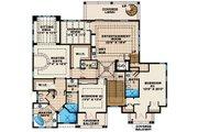Mediterranean Style House Plan - 4 Beds 5.5 Baths 4745 Sq/Ft Plan #27-451 Floor Plan - Main Floor Plan
