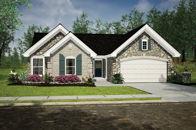 Home Plan - Traditional Exterior - Front Elevation Plan #57-367