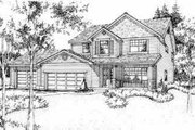 Traditional Style House Plan - 4 Beds 2.5 Baths 2488 Sq/Ft Plan #78-104 Exterior - Front Elevation