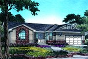 Ranch Style House Plan - 3 Beds 2 Baths 1300 Sq/Ft Plan #417-113 Exterior - Front Elevation
