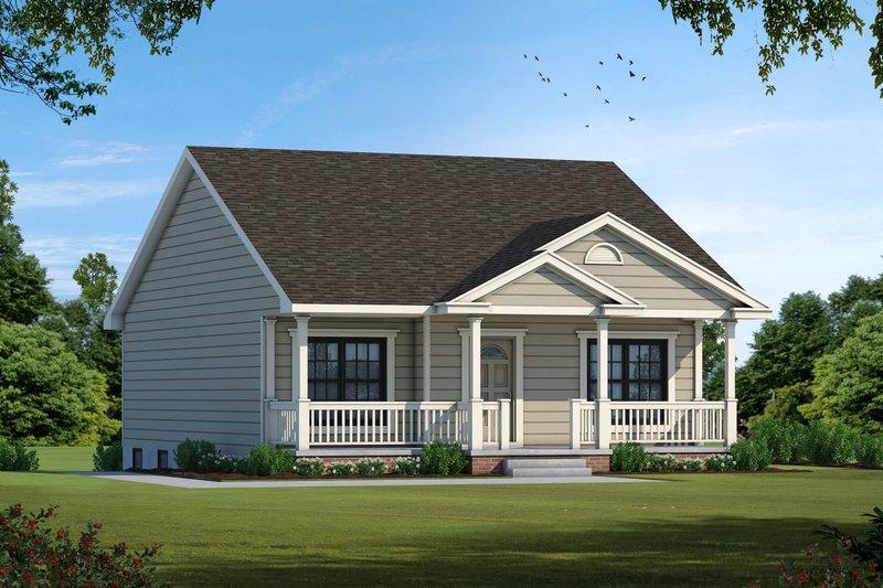 Cottage Exterior - Front Elevation Plan #20-122