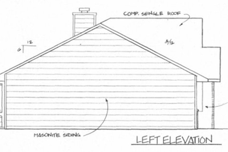Ranch Exterior - Other Elevation Plan #58-135 - Houseplans.com