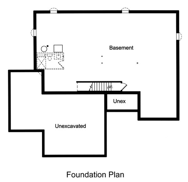 Dream House Plan - Unfinished Basement Foundation