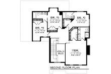 Traditional Floor Plan - Upper Floor Plan Plan #70-1199