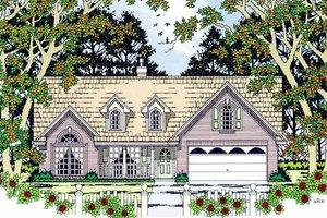 Architectural House Design - Cottage Exterior - Front Elevation Plan #42-398
