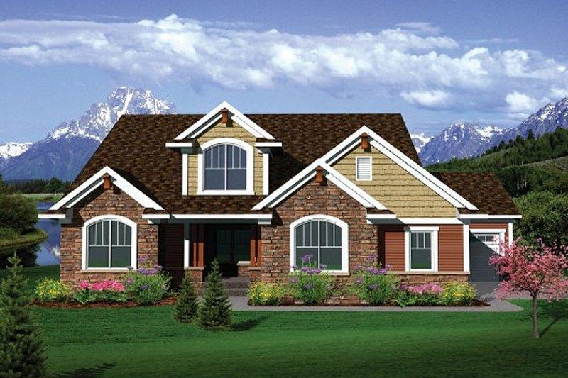 House Plan Design - Exterior - Front Elevation Plan #70-1104