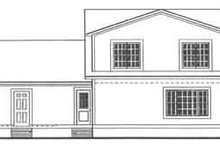 Country Exterior - Rear Elevation Plan #406-228