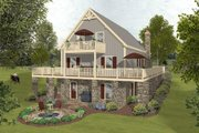 Cottage Style House Plan - 3 Beds 2 Baths 1592 Sq/Ft Plan #56-625