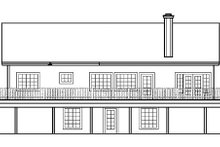 Traditional Exterior - Rear Elevation Plan #60-651