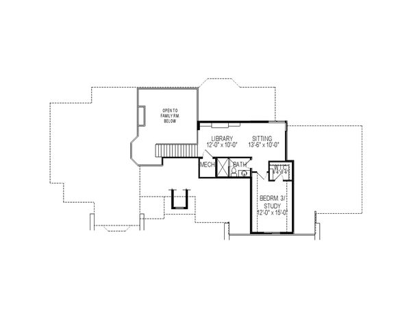 European Floor Plan - Upper Floor Plan Plan #920-60