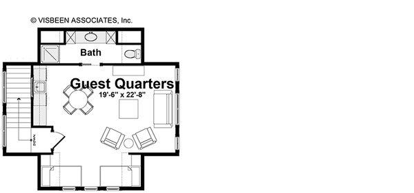 House Plan Design - Optional Guest Quarters
