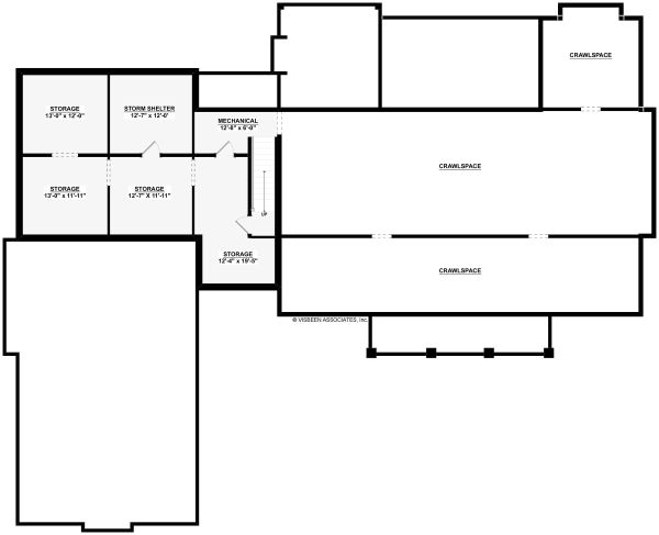Farmhouse Floor Plan - Lower Floor Plan Plan #928-325