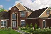 Traditional Style House Plan - 4 Beds 4 Baths 3131 Sq/Ft Plan #63-228 Exterior - Front Elevation