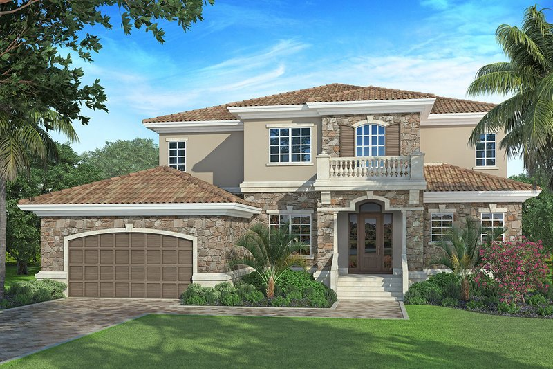 Mediterranean Exterior - Front Elevation Plan #938-84