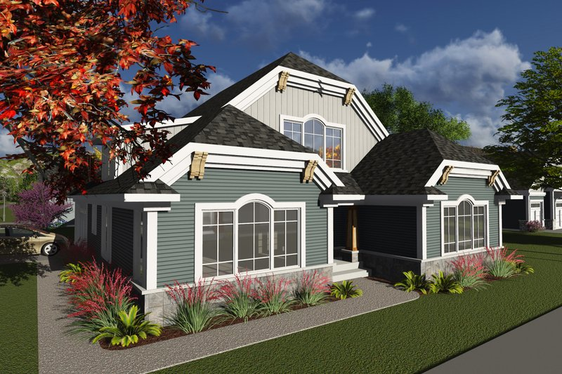 Home Plan - Ranch Exterior - Front Elevation Plan #70-1242