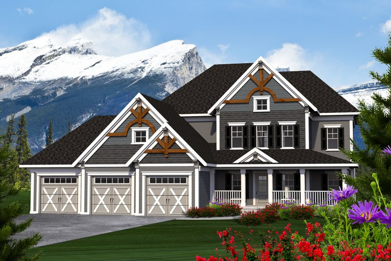 Home Plan - Southern Exterior - Front Elevation Plan #70-1230