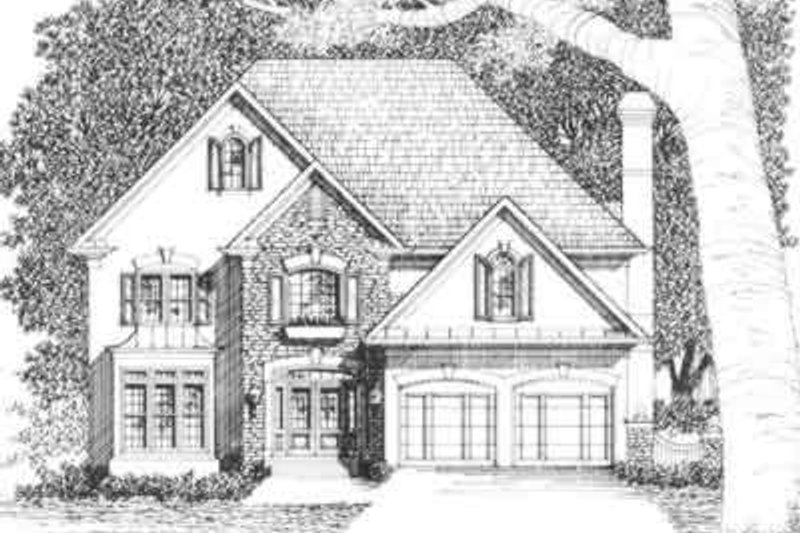 Southern Exterior - Front Elevation Plan #129-137