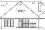 European Style House Plan - 4 Beds 3.5 Baths 2539 Sq/Ft Plan #15-143 Exterior - Rear Elevation