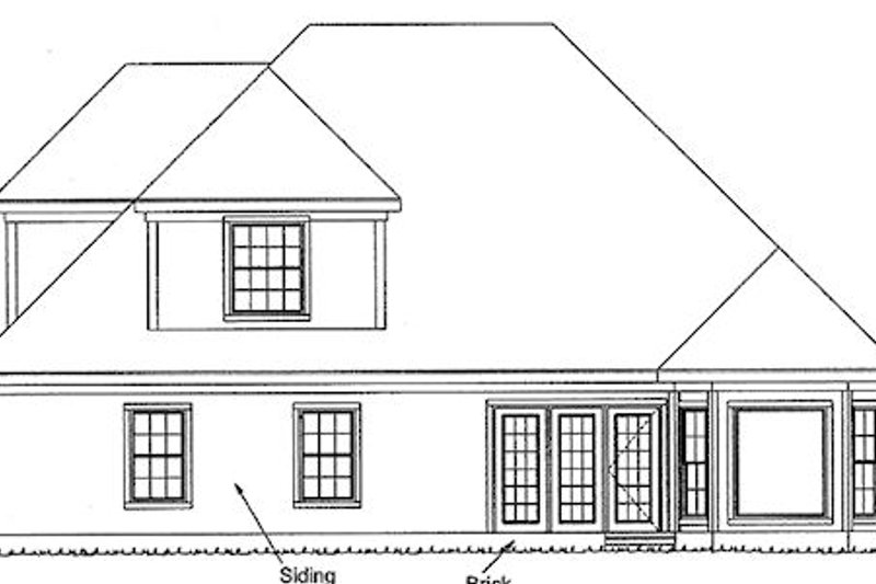 Traditional Exterior - Rear Elevation Plan #20-179 - Houseplans.com