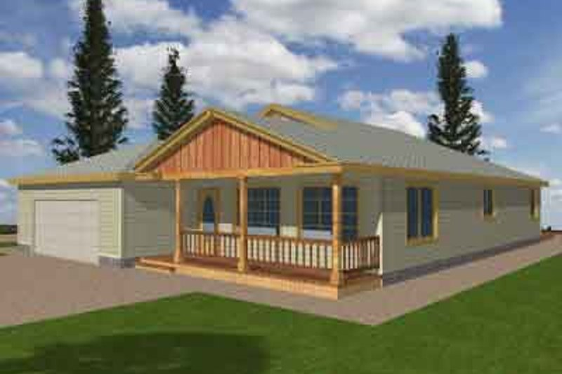 Dream House Plan - Traditional Exterior - Front Elevation Plan #117-158