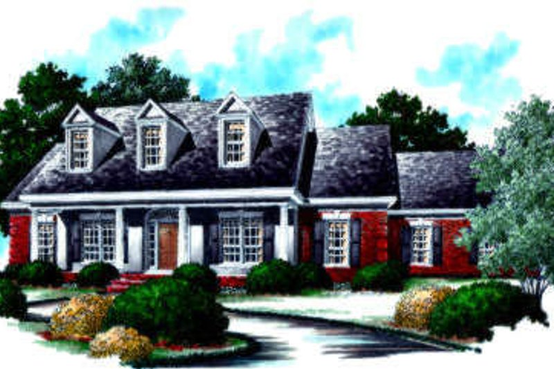 Traditional Exterior - Front Elevation Plan #37-200 - Houseplans.com