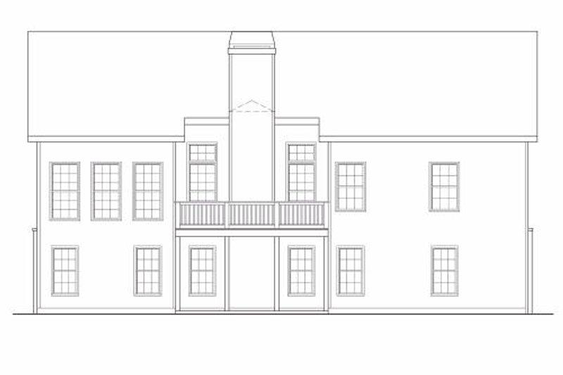 Traditional Exterior - Rear Elevation Plan #419-144 - Houseplans.com