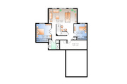 Cottage Style House Plan - 3 Beds 2 Baths 2304 Sq/Ft Plan #23-2318 Floor Plan - Lower Floor