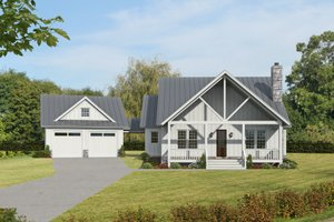 Country Exterior - Front Elevation Plan #932-389