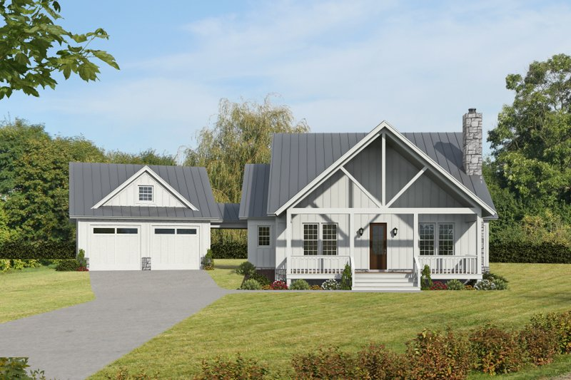 Country Style House Plan - 3 Beds 3.5 Baths 1972 Sq/Ft Plan #932-389
